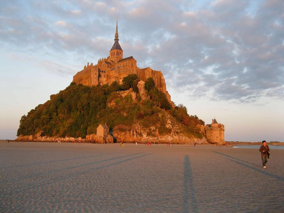 Mont Saint Michel coucher de soleil